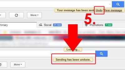 Gmail Undo