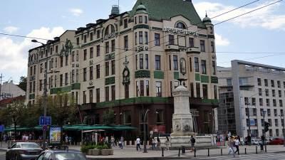 Hotel Moskva, terazije, česma
