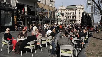 bašta, kafić, lepo vreme, beograd centar