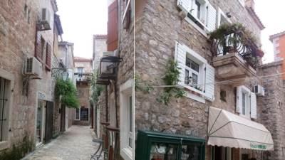 Budva, more, plaža, Crna Gora, stari grad