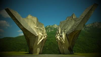 Tjentište, Sutjeska, partizani