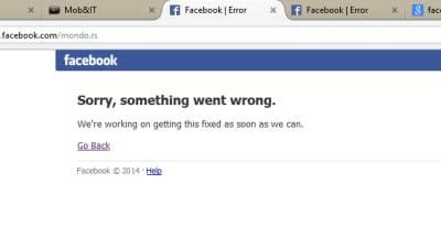 Facebook Down, Pao Facebook, Ne radi Facebook