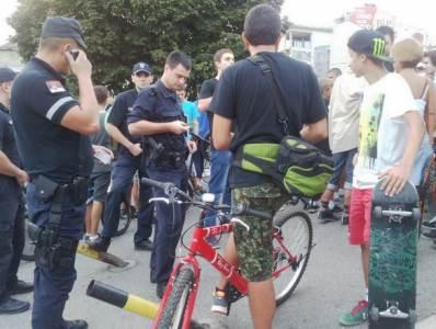 biciklista i policija
