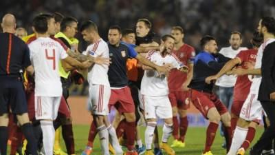 Srbija, Albanija, tuča