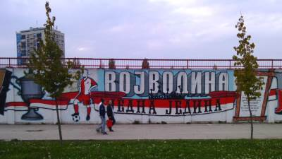 fk vojvodina jedna jedina mural