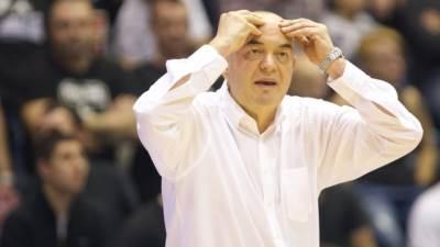 Trener Partizana Duško Vujošević na meču Evrokupa protiv Lijetuvos Ritasa