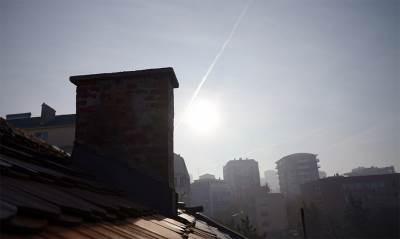 dimnjak, krov, nebo, zgrade