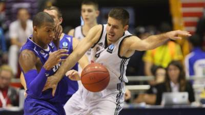 Milenko Tepić i Duško Vujošević na meču Evrokupa Partizan - Asesoft