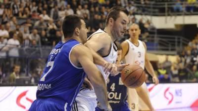 Milan Mačvan na utakmici Partizan - Budućnost