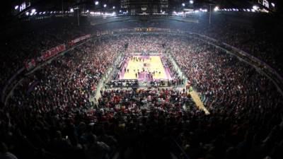 Kombank arena uoči utakmice Top 16 faze Evrolige KK Crvena zvezda