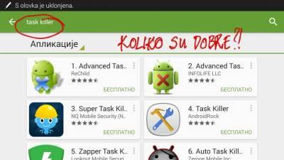 Task Killer, Aplikacije, Android