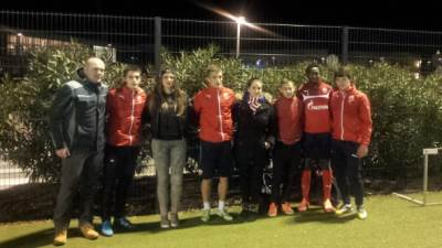 crvena zvezda trening u sloveniji navijaci