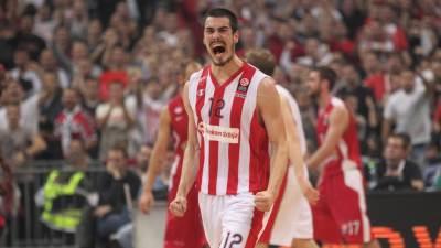 Nikola Kalinić krilo Crvene zvezde Telekom proslavlja koš