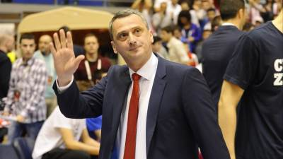 Trener Zvezde Dejan Radonjić na utakmici Top 16 faze Evrolige protiv Albe