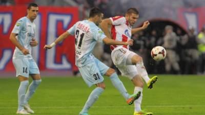 Napadnuti fudbaler Novog Pazara Žarko Udovičić u meču protiv Crvene zvezde
