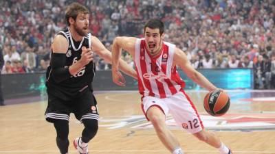 Nikola Kalinić i Andres Noćioni u meču Evrolige Zvezda Real