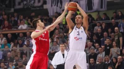 Saša Pavlović Nemanja Dangubić na utakmici polufinala Kupa Koraća Partizan Zvezda