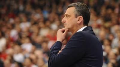 Dejan Radonjić trener Crvene zvezde Telekom u meču Evrolige protiv Makabija