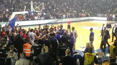 Incident na utakmici Budućnost Partizan u Podgorici