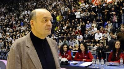 Duško Vujošević trener Partizana na utakmici Grobari za nas
