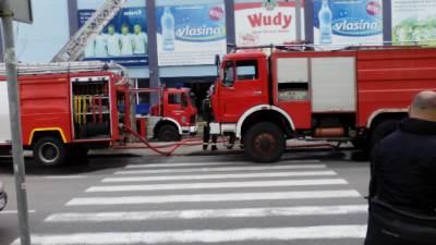 FK rad, stadion, požar