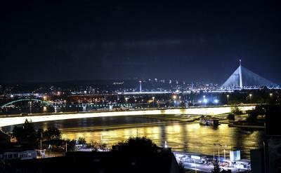 beograd, noć, reka, mrak, svetlo, most, veče,