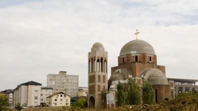 Priština, Kosovo, hram, Crkva Hrista Spasa, hram Hrista Spasa, SPC