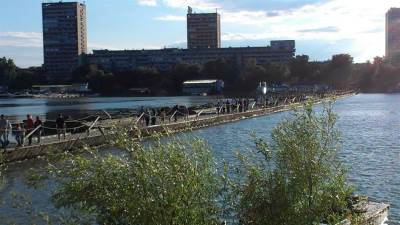 reka, most, pontonski most, Zemun