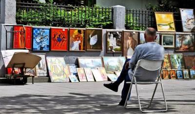 ulični umetnici, slike, slikar,