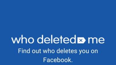 Who Deleted Me, Who Deleted Me on Facebook
