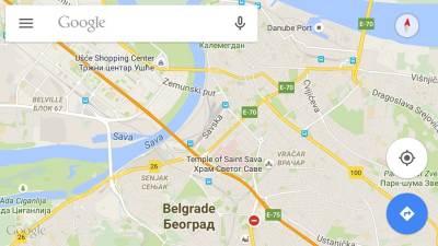Google maps, mape