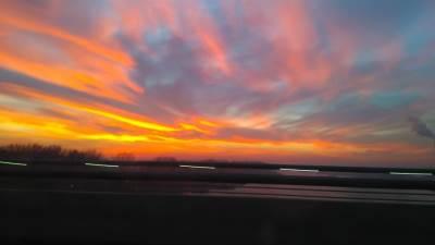 nebo, Beograd, crveno nebo