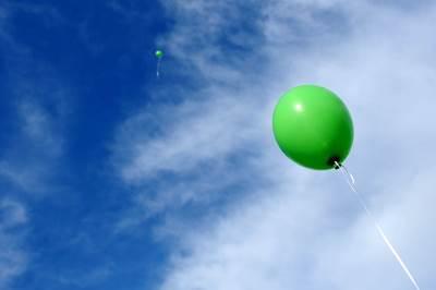 balon, baloni, zeleni baloni