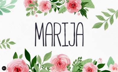 ime, imena, marija, ilustracija