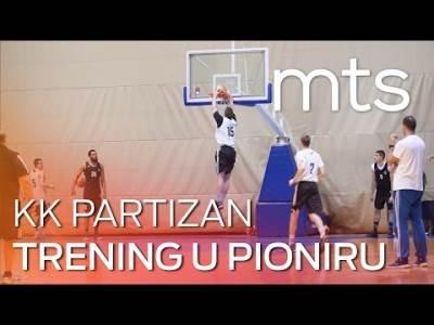 Trening košarkaša Partizana