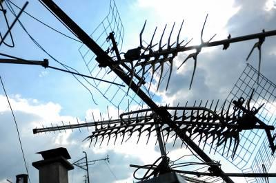 antena, tv antena, krovna antena, krov, zgrada, signal, prijem
