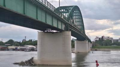 most, Savski most, tramvajski most, reka, Sava, Beograd