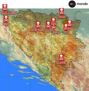 mapa mina BiH