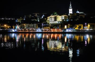 beograd noću, splavovi, reka sava, saborna crkva, pristanište, noćni život, panorama, panorame,
