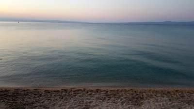Grčka, Plaža, Zalazak sunca, Hanioti, Pefkohori