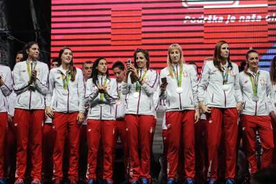odbojkašice, medalja, doček olimpijaca skupština, olimpijske igre rio 2016, sportisti, srbija, doček sportista