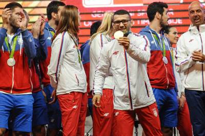 davor štepanek, doček olimpijaca skupština, olimpijske igre rio 2016, sportisti, srbija, doček sportista