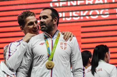 nikola jakšić, živko gocić, doček olimpijaca skupština, olimpijske igre rio 2016, sportisti, srbija, doček sportista