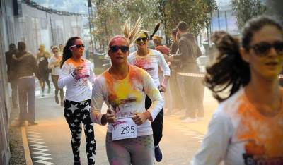 obojena trka, trka sa bojama, boje, trka, trčanje,