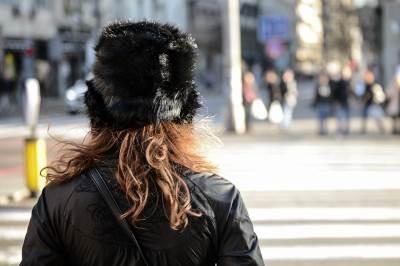 vetar, vetrovito, kosa, kapa, šubara, devojka, riđa, hladno, zahlađenje