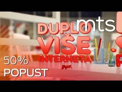 mts 50% popusta i duplo više Interneta