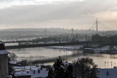 beograd, most na adi, most, mostovi, zima, sneg, vreme, grad, kalemegdan, padavine, mećava, hladno