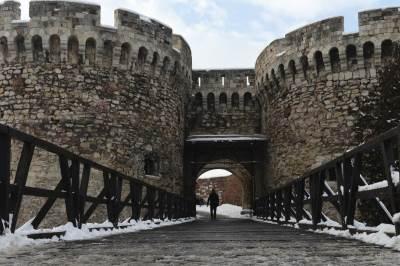 beograd, zima, tvrđava, zamak, sneg, vreme, grad, kalemegdan, padavine, mećava, hladno