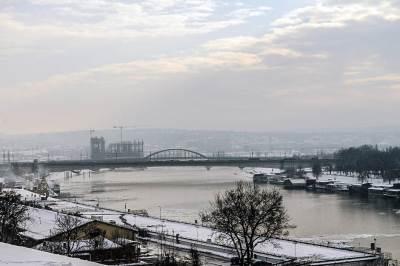 beograd, reka, sava, most, mostovi, stari tramvajski,  zima, sneg, vreme, grad, kalemegdan, padavine, mećava, hladno