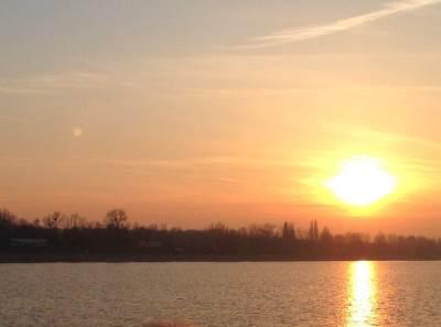svitanje, zalazak, sunce, more, jezero, reka, romantika